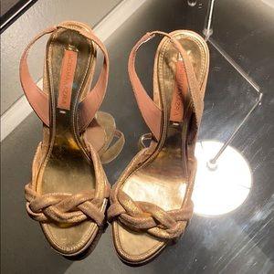 BCBGMAXAZRIA gold sandal